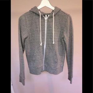 H&M Grey Zip Up Sweatshirt